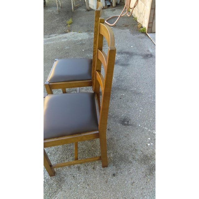 Ladder Back Side Chairs - A Pair For Sale - Image 4 of 5