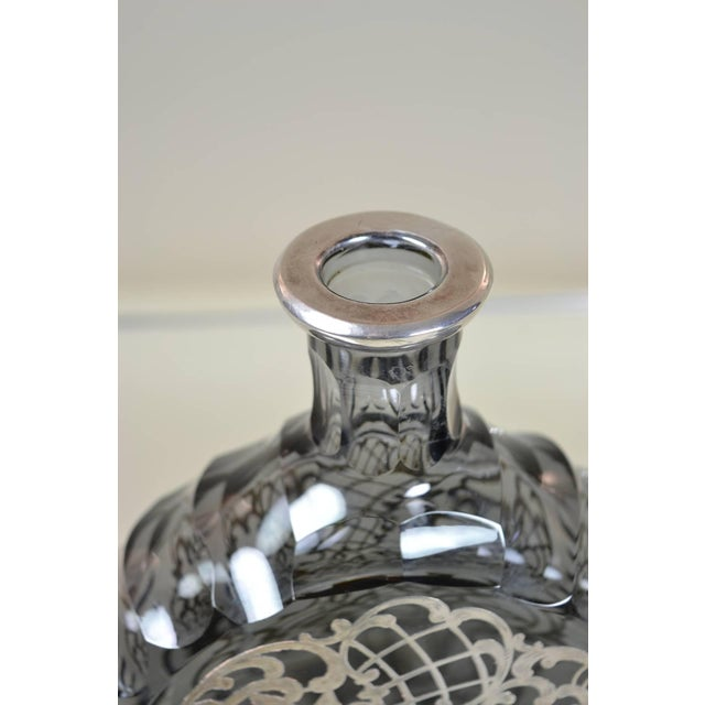 Silver Silver Decorated Crystal Decanter For Sale - Image 8 of 8
