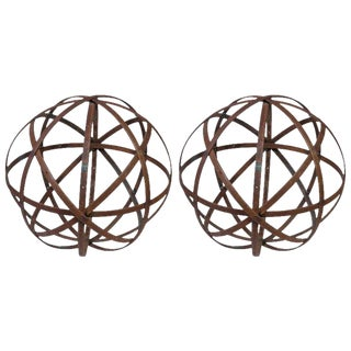 Pair of Medium Steel Spheres