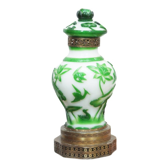 19TH CENTURY PEKING GLASS VASES AS LAMPS - Image 1 of 7