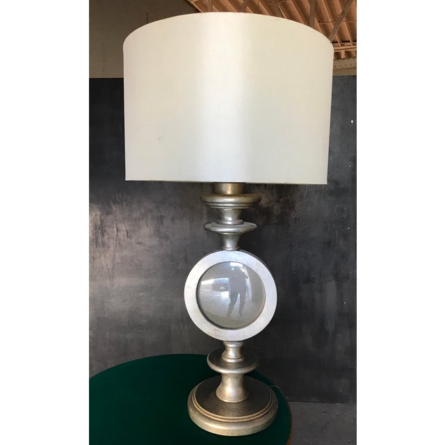 Oversize Italian Silver Leaf Table Lamps - A Pair - Image 4 of 7