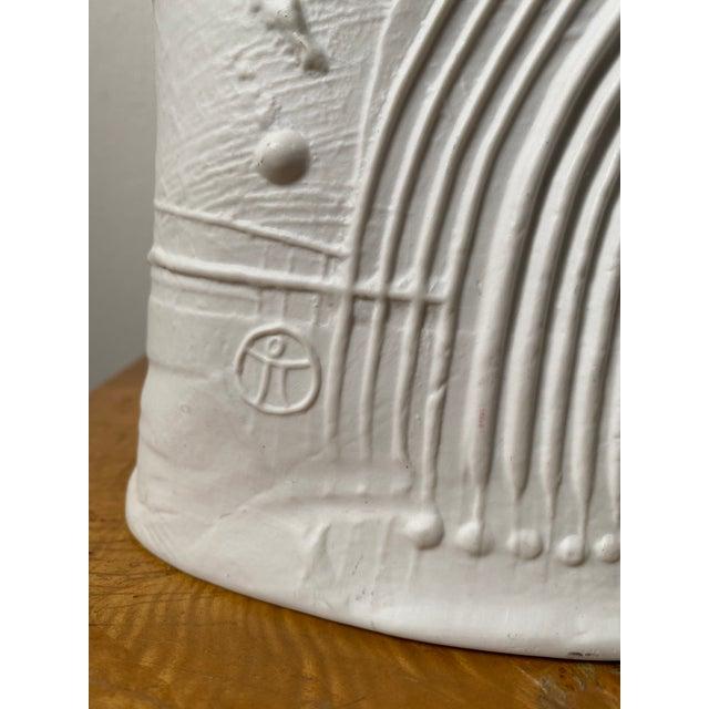 Swedish Porcelain Rorstrand Vase by Bertil Vallien For Sale In Chicago - Image 6 of 13
