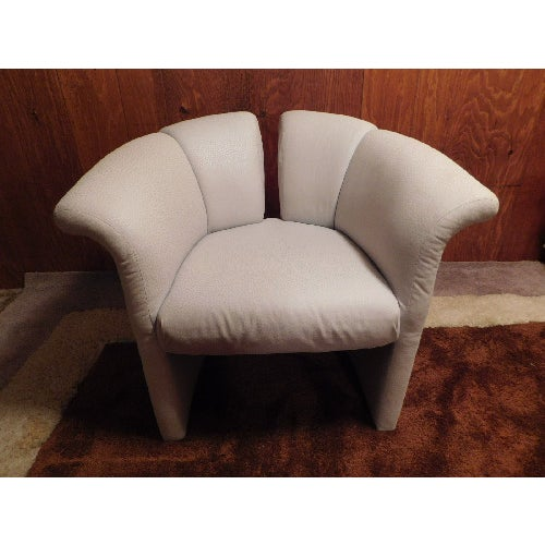 Mid-Century Thayer Coggins Split Barrel Chair - Image 2 of 9
