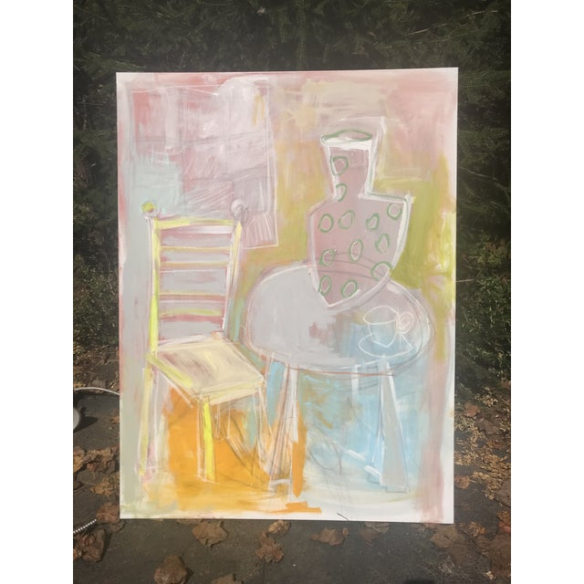 """2020s Sarah Trundle Abstract Still Life """"A Seat at the Table"""" Painting For Sale - Image 5 of 7"""