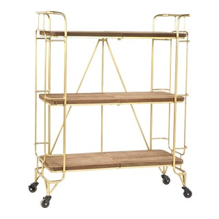 Lulu Shelving Unit -Bar Cart With Wheels For Sale