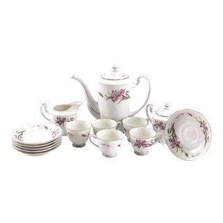 Super Close Out Sale !! Vintage Jyoto Porcelain China Coffee/Tea Service For Sale