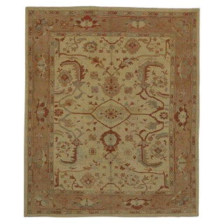 Contemporary Turkish Oushak Area Rug - 9′6″ × 11′4″ For Sale