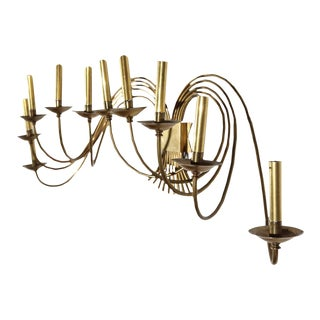 1960s Large Mid-Century Brass Sconce For Sale