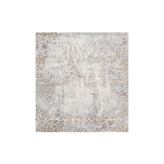 Abstract Animal Print Modern Wool and Bamboo Silk Rug - 8′ × 10′ For Sale