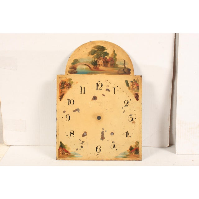 Mid 19th Century 19th-C. Hand-Painted English Clock Face For Sale - Image 5 of 5