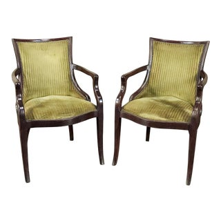 Pair Mid-Century French Armchairs For Sale