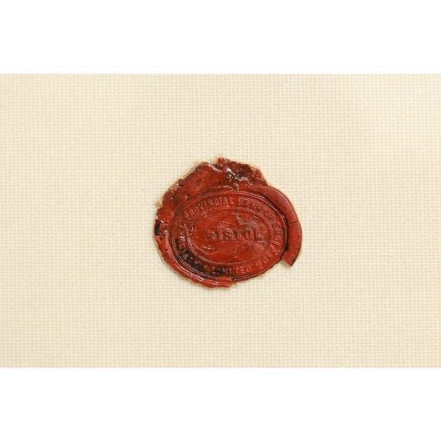 Metal Antique English Red Wax Seal Intaglios Art, a Pair For Sale - Image 7 of 10