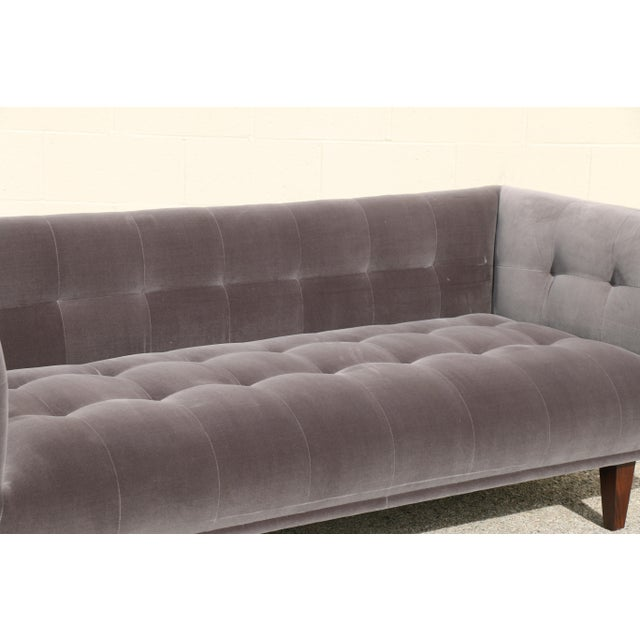 Modern Velvet Tufted Sofa - Image 6 of 10
