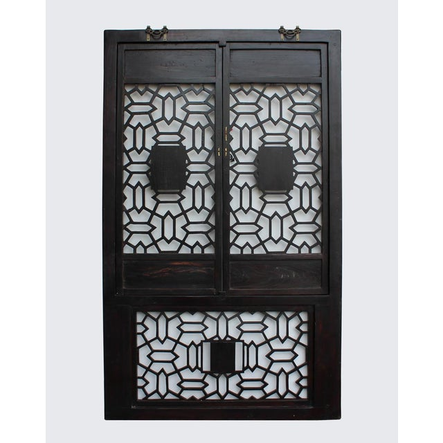 Chinese Golden Floral Carving Wall Panel Screen For Sale - Image 5 of 6