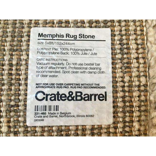 Crate & Barrel Memphis Stone Rug - 5′ × 8′ - Image 3 of 3