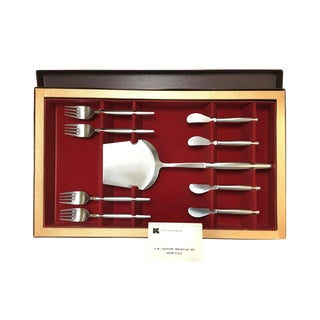 Kalmar Designs Country Breakfast Desert Serving Flatware Set of 9 For Sale