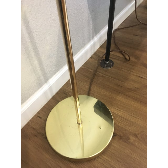 Hollywood Regency Vintage Brass Shell Floor Lamp For Sale - Image 3 of 8