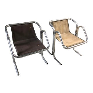 Landes Mid-Century Arcadia Sling Lounge Chairs - Set of 2 For Sale