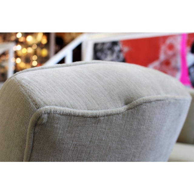 Textile Pair of Michael Taylor for Baker Style Lounge Slipper Chairs For Sale - Image 7 of 10