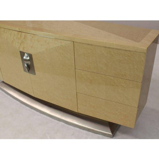 Mid-Century Modern Long Curved Birds Eye Maple Sideboard Preview