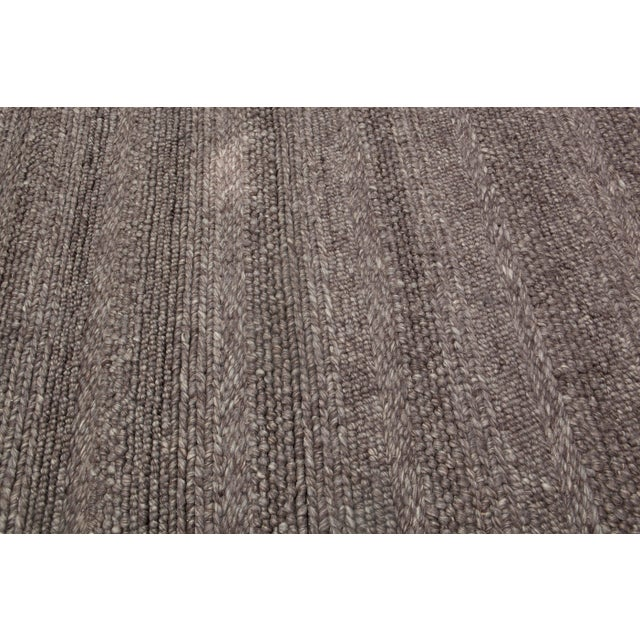 Hand Woven Brown Wool Rug - 9' x 13' - Image 5 of 6