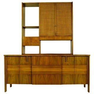 Dale Ford Walnut and Cane Sideboard by John Widdicomb For Sale