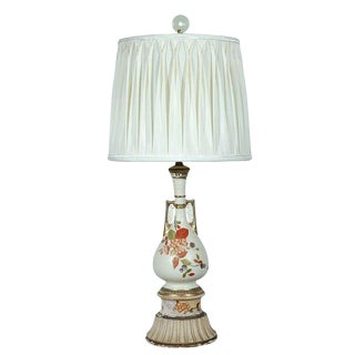 Decorative Table Lamp with Silk Shade For Sale