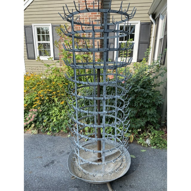 Metal Monolithic Antique French Zinc Herisson For Sale - Image 7 of 7