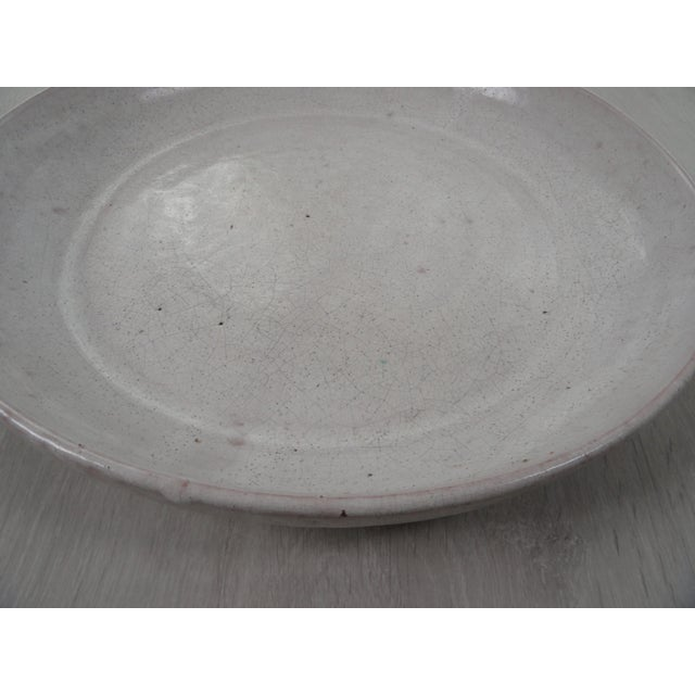 Ceramic 18th Century White Oriental Charger For Sale - Image 7 of 8