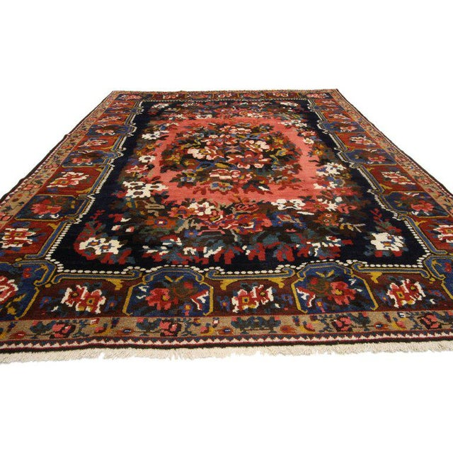 Contemporary 1960s Victorian Persian Bakhtiari Rug - 7′3″ × 9′9″ For Sale - Image 3 of 6