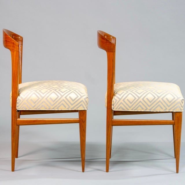 Beech Set of Eight Art Deco Beech Chairs With New Upholstery For Sale - Image 7 of 12
