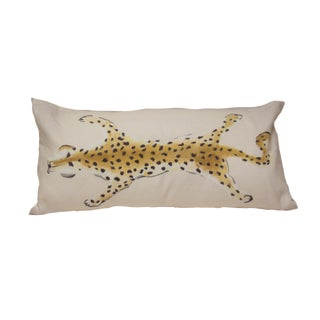 Dana Gibson Leopard Lumbar Pillow in Neo Hide For Sale
