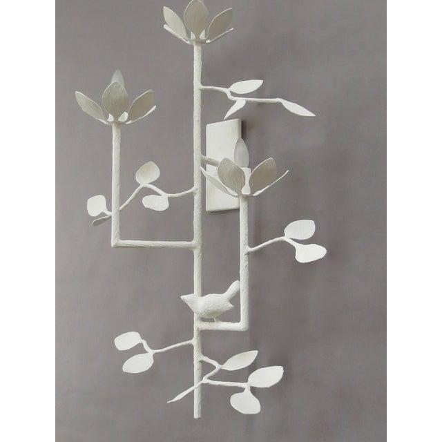 Plaster Garden Sconce For Sale In New York - Image 6 of 7