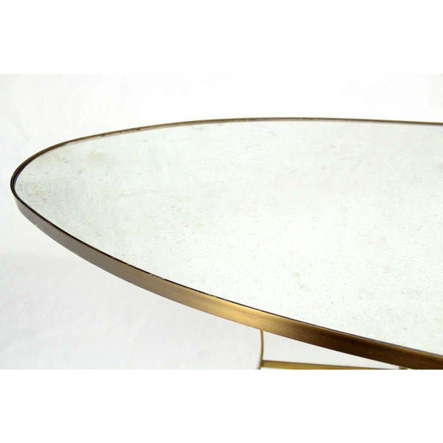 Glass Large Oval Display Table For Sale - Image 7 of 10