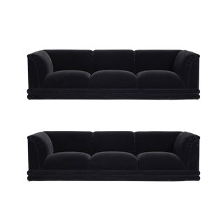 Jay Spectre Sofas on Chrome Bases For Sale