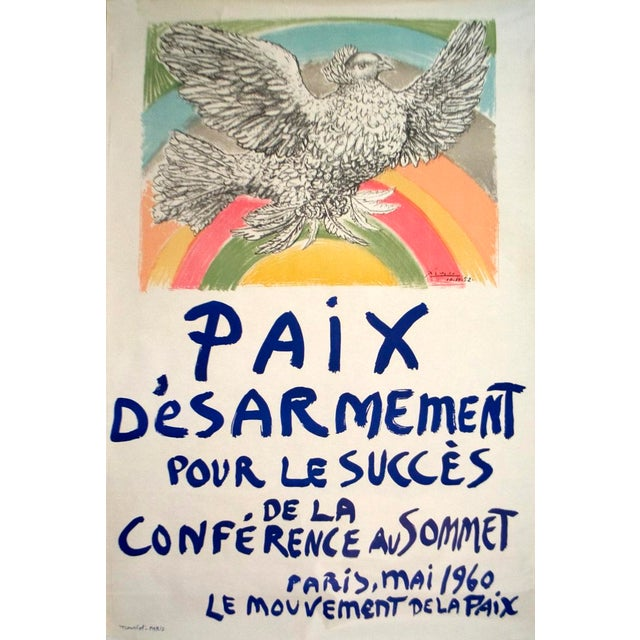 Cubism Pablo Picasso, Paix Disarmement-Peace & Posters For Sale - Image 3 of 4