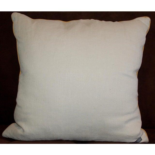 Yellow Ikat Throw Pillows - A Pair - Image 4 of 6