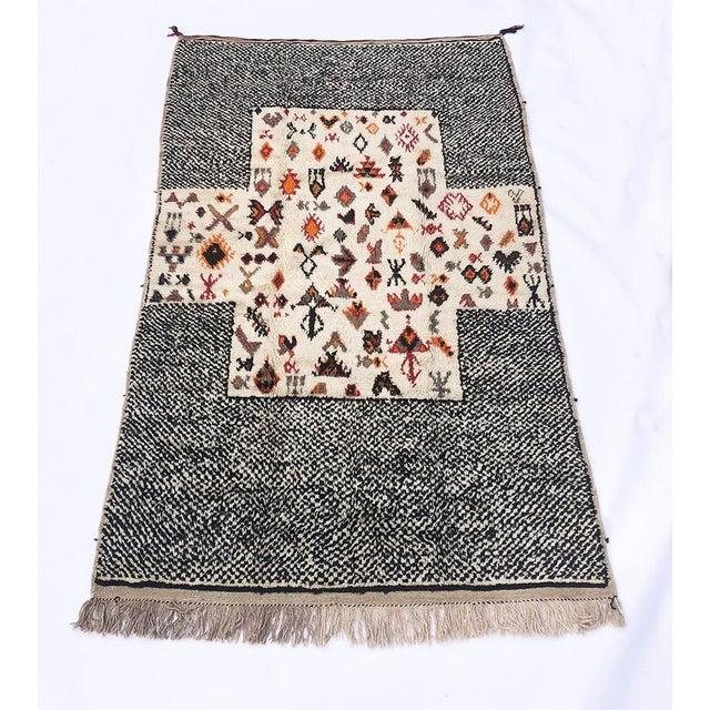 "Vintage Tribal Berber Wool Checkerboard Rug-5'2"" X 8'8"" For Sale - Image 10 of 10"