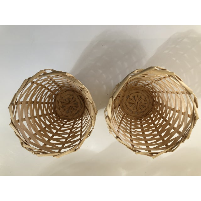 Wicker Wrapped Demijohn Bottles - Set of 3 For Sale - Image 12 of 13