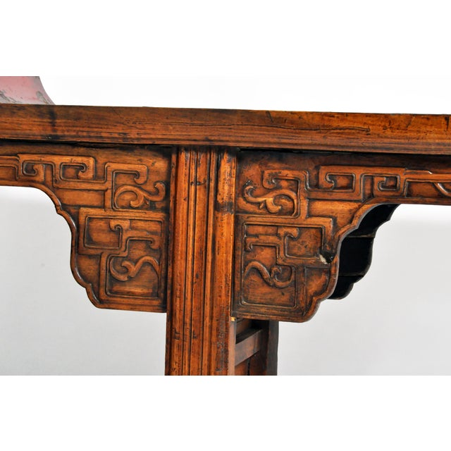 Black Late Qing Dynasty Chinese Altar Table For Sale - Image 8 of 13