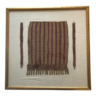 Pre-Columbian Framed Chancay Textile For Sale