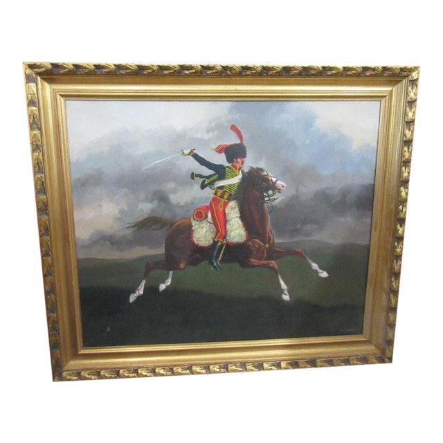 French Hussar Painting - Image 1 of 5