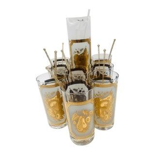 1960s Georges Briard Hollywood Regency Cocktail Set - 17 Piece Set For Sale