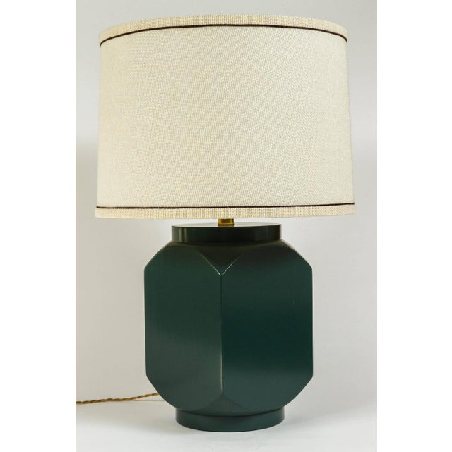 Martin & Brockett Modern Matte Lacquer Lamp For Sale - Image 4 of 5
