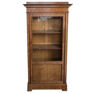 19th Century Antique French Walnut Bookcase For Sale