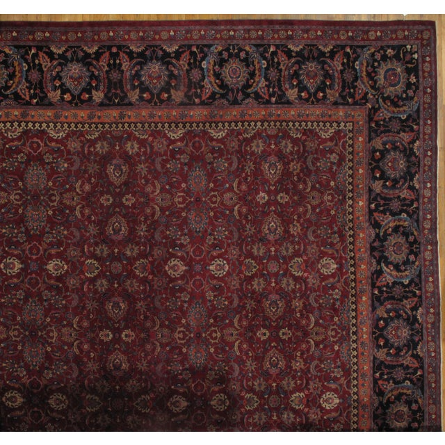"Islamic Pasargad NY Antique Persian Saver Mashad Rug - 17'3"" x 17'6"" For Sale - Image 3 of 3"