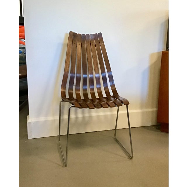 "Brown 1960s Vintage Hans Brattrud for Hove Mobler ""Scandia"" High Back Chair For Sale - Image 8 of 8"