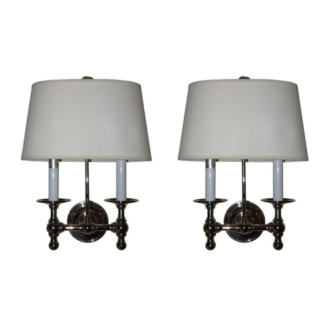 Visual comfort e f chapman classic 2 light nickel wall lamps a visual comfort e f chapman classic 2 light nickel wall lamps a pair mozeypictures Images