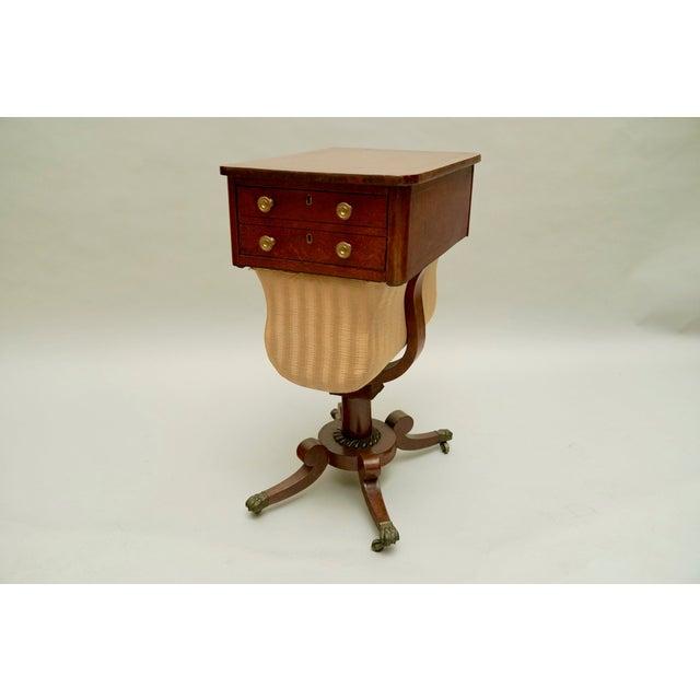 Circa 1820 Regency Amboyna Wood Worktable For Sale - Image 11 of 11