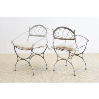 Set of Four Neoclassical Cast Iron Garden Chairs Preview